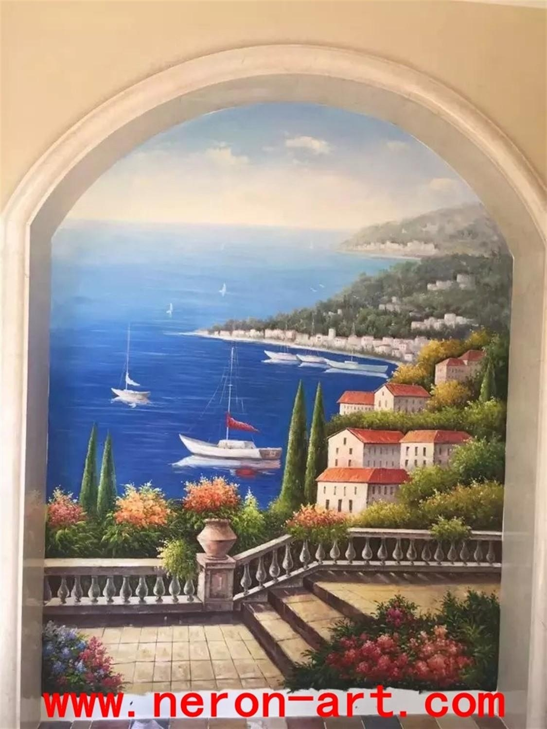 Italian Landscape Wall Muralneron Art With Regard To Italian Art Wall Murals (View 17 of 20)