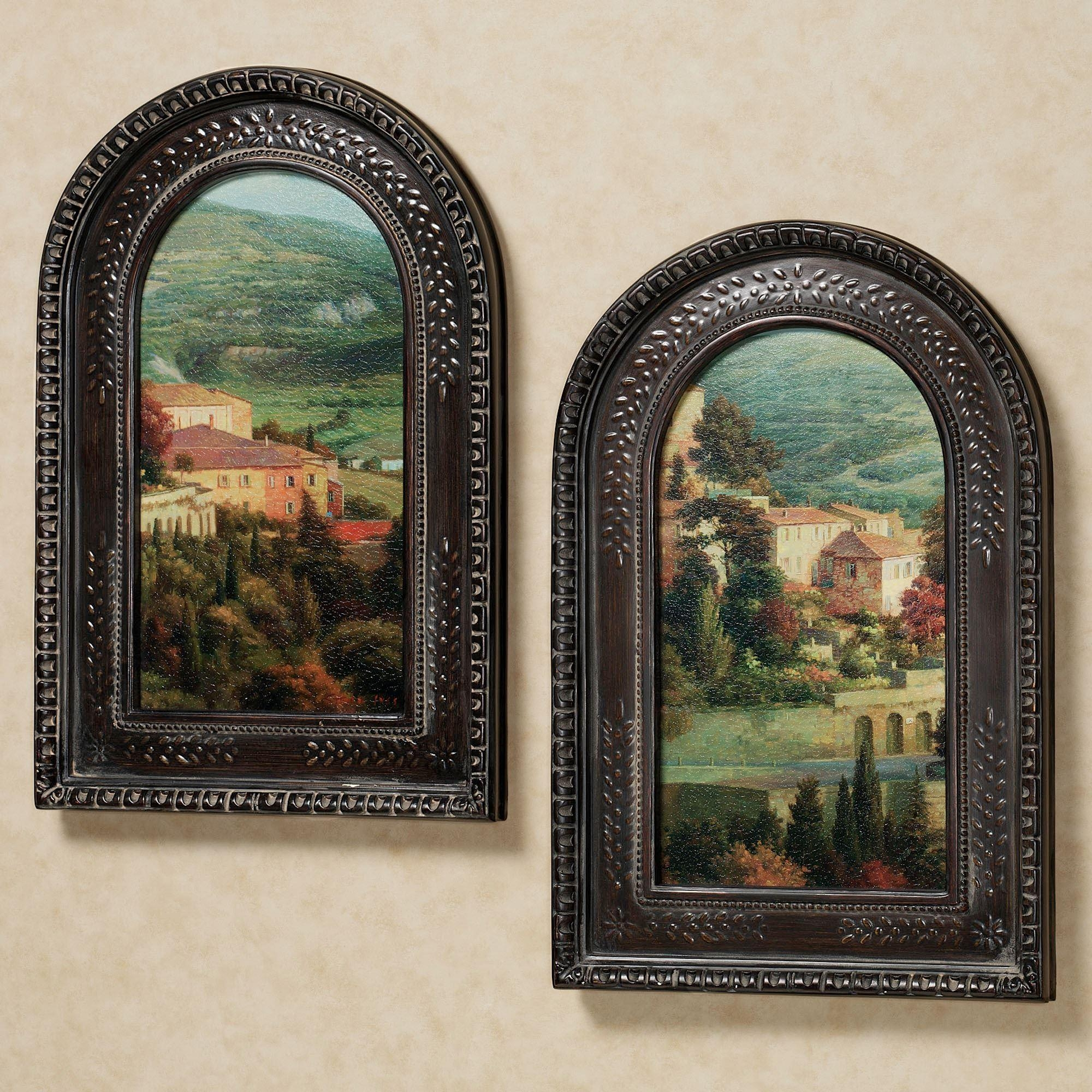 Italian Overlook Framed Wall Art Set Intended For Old Italian Wall Art (Image 5 of 20)