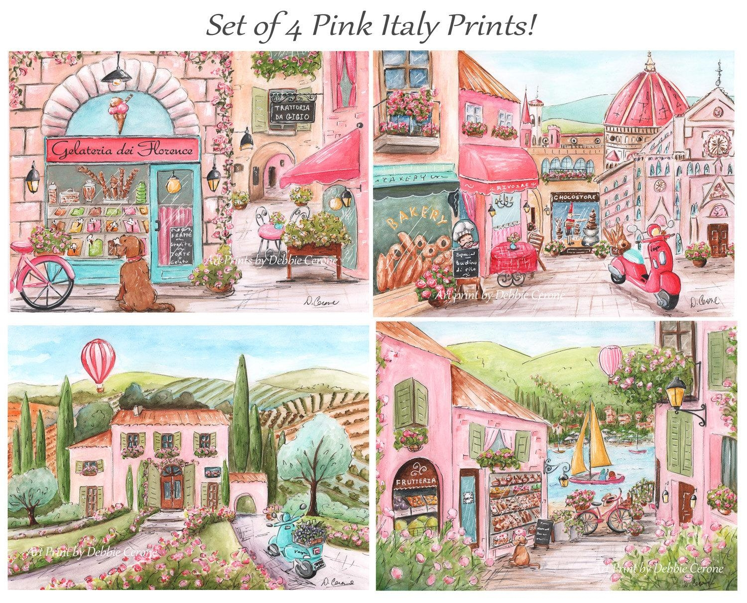 Italian Theme Travel Themed Nursery Art For Girl Custom Throughout Italian Nursery Wall Art (Image 10 of 20)