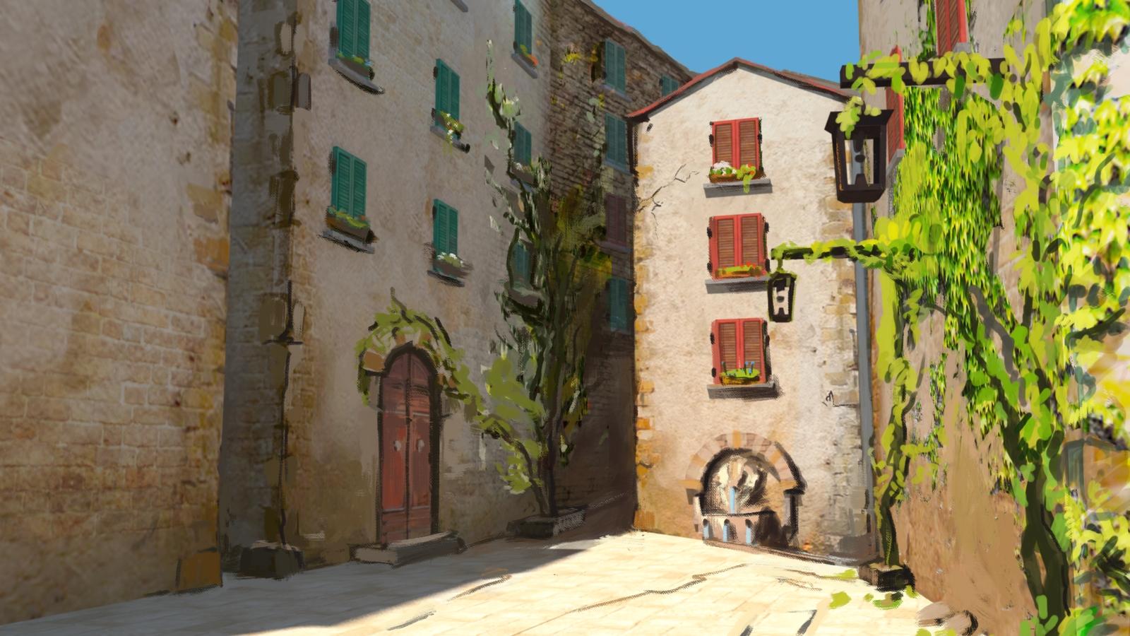 Italian Village Scenesleepytimes On Deviantart Throughout Italian Village Wall Art (View 9 of 20)