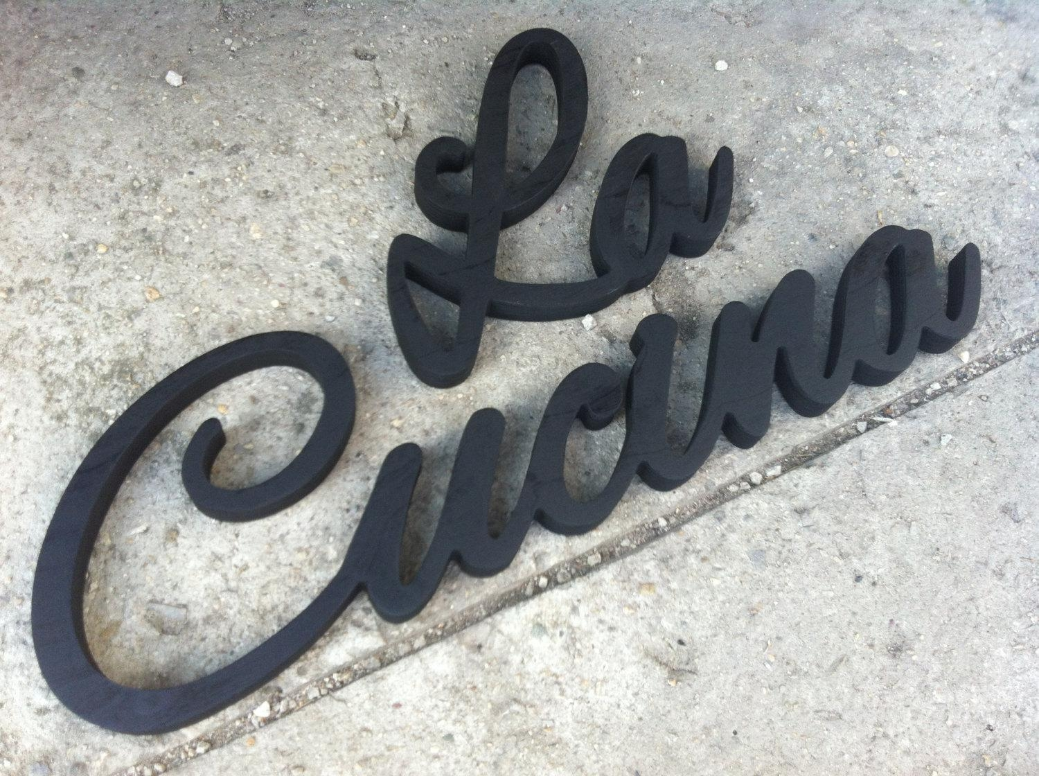 Italian Word For The Kitchen La Cucina Wood Sign Wall Decor In Italian Words Wall Art (Image 11 of 20)