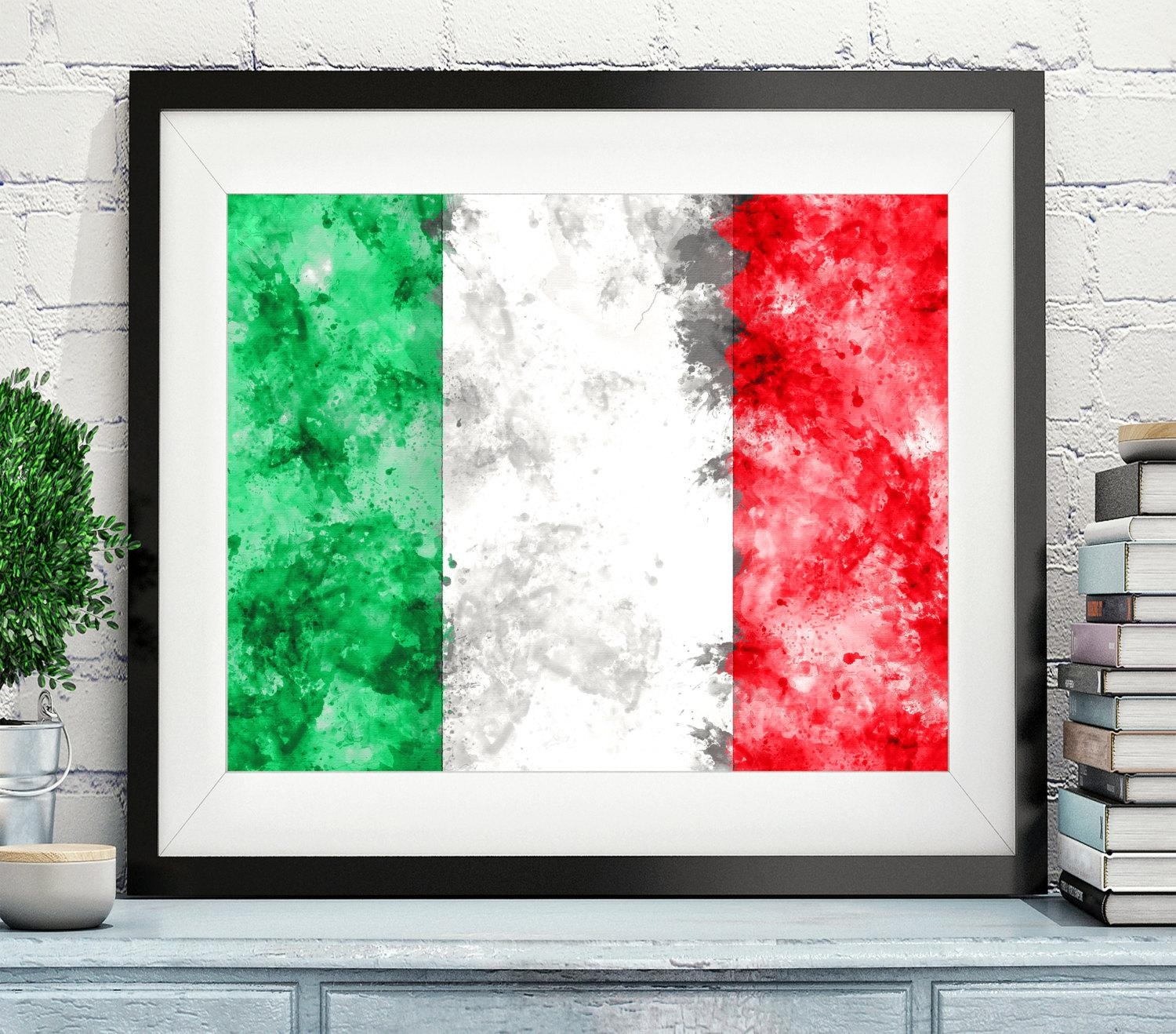 Italy Flag Art, Italy Flag Print, Italy Flag Poster, Country Flags With Regard To Italian Flag Wall Art (View 3 of 20)