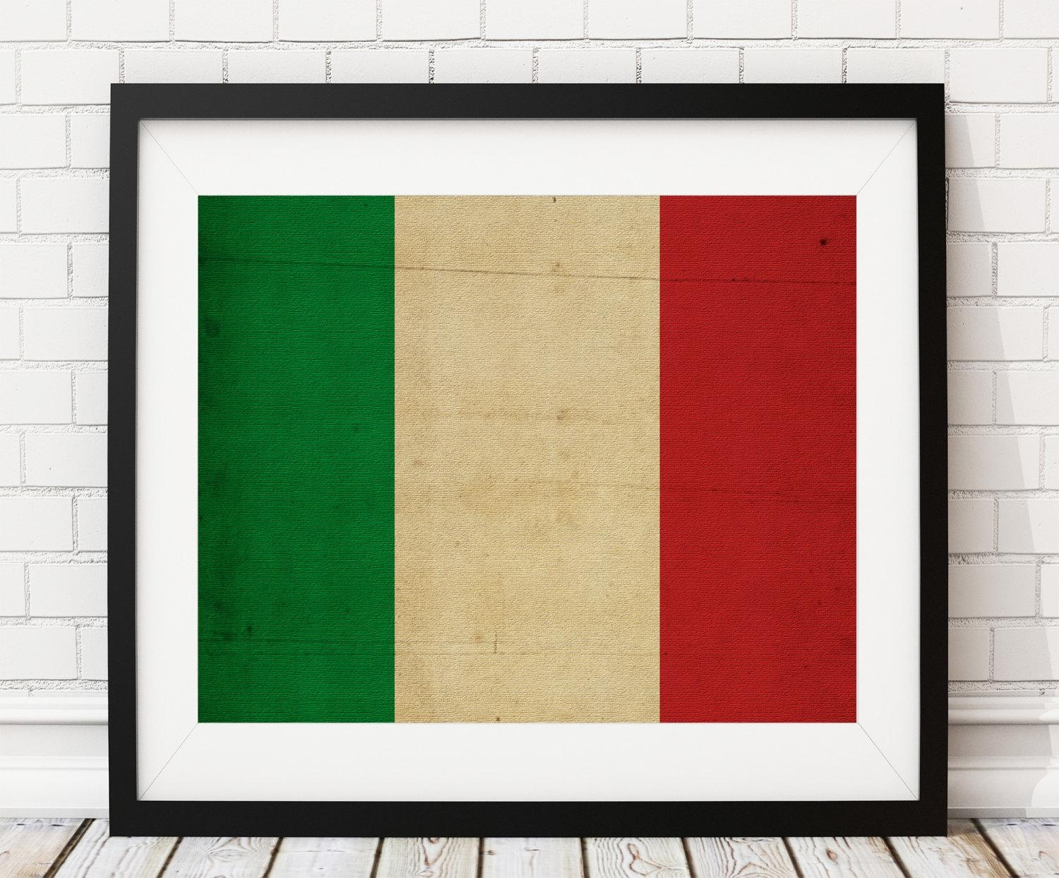 Italy Flag Art, Italy Flag Print, Italy Flag Poster, Flag Painting Inside Italian Flag Wall Art (View 8 of 20)