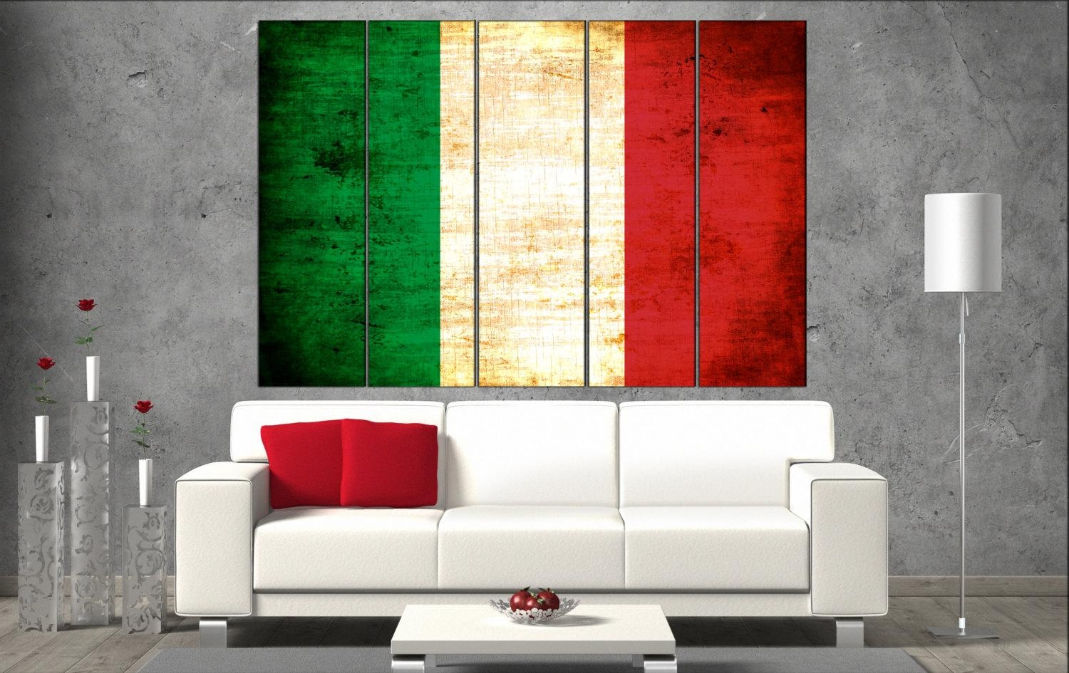 2018 latest italian flag wall art wall art ideas for Kitchen cabinet trends 2018 combined with make your own canvas wall art