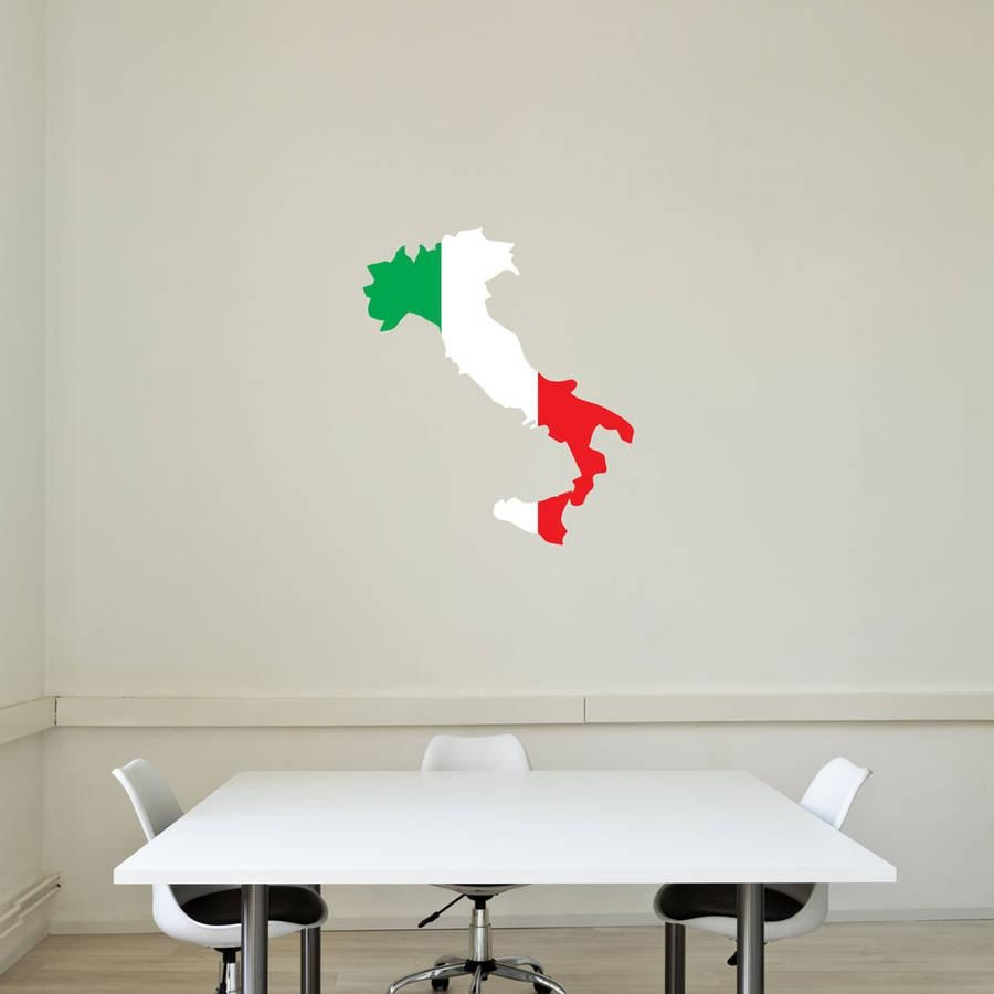 Italy National Flag Wall Artvinyl Revolution For Italian Flag Wall Art (View 12 of 20)