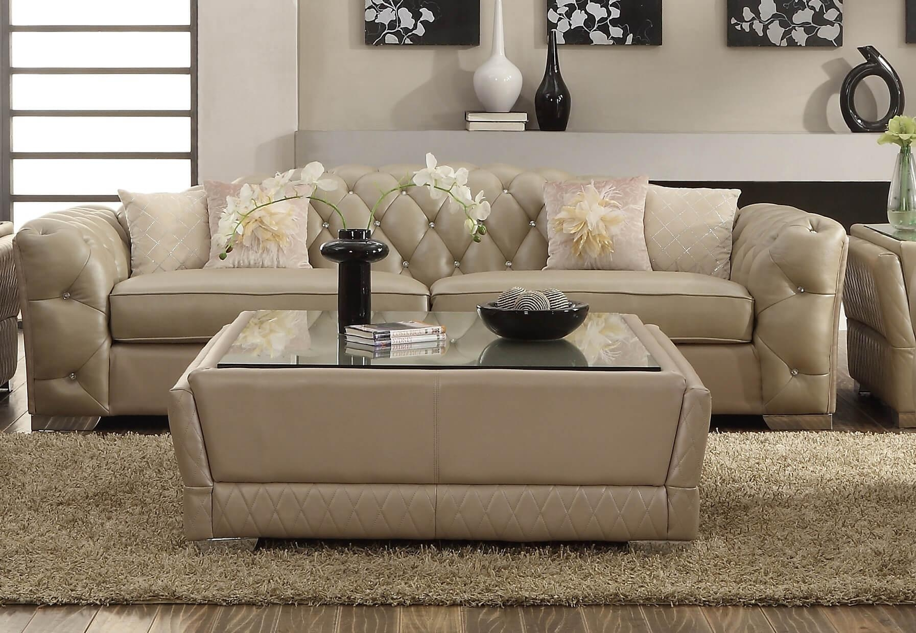 Ivory Color Leather Sofa Set | Centerfieldbar For Cream Sectional Leather Sofas (Image 15 of 22)