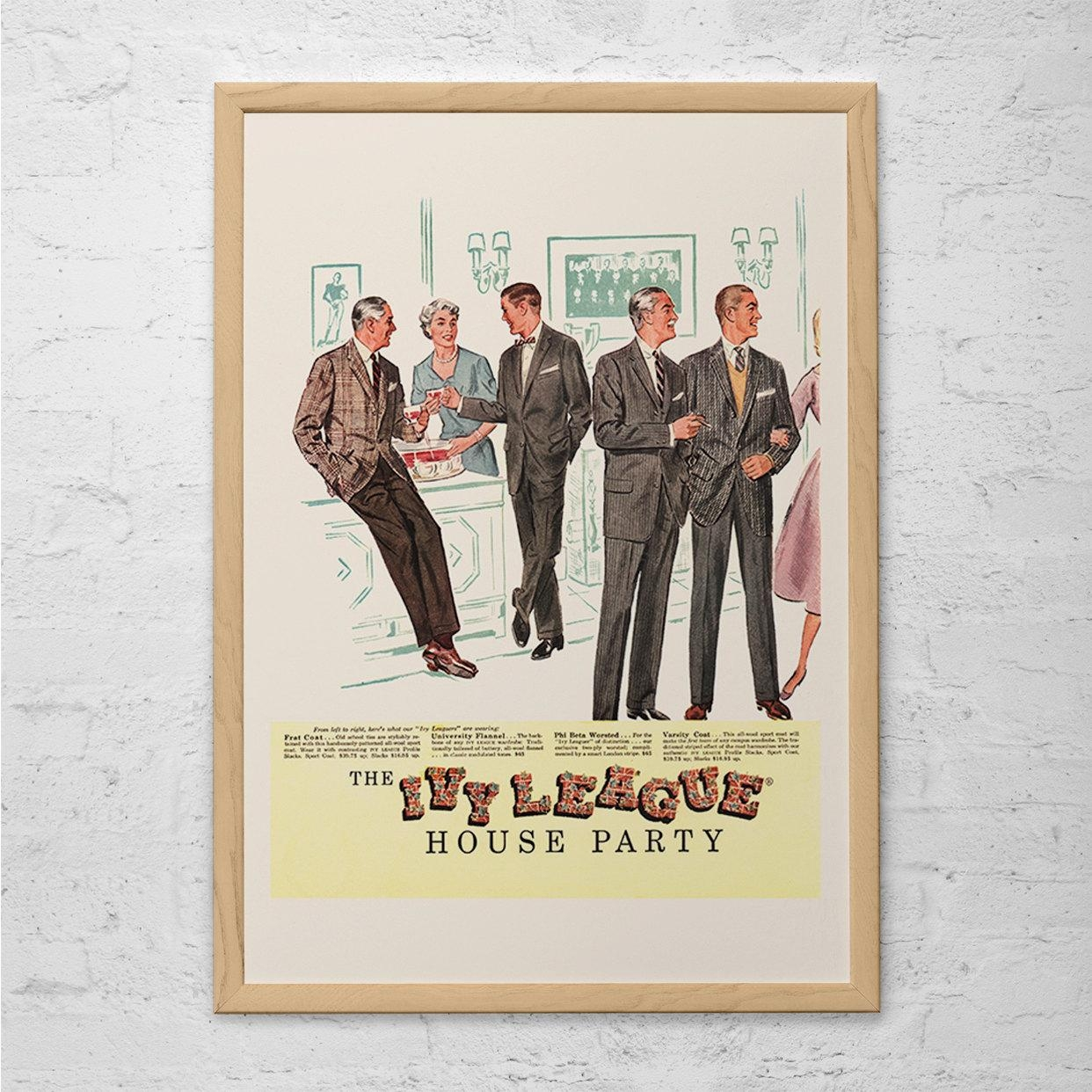 Ivy League Fashion Ad Retro Mad Men Ad Mid Century Poster Inside Mad Men Wall Art (Image 5 of 20)