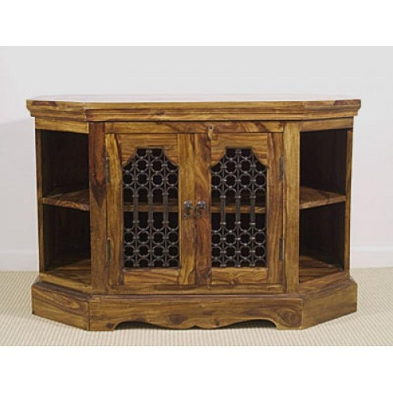 Jali Corner Tv Cabinet | La Casa Bella with Recent Jali Tv Cabinets