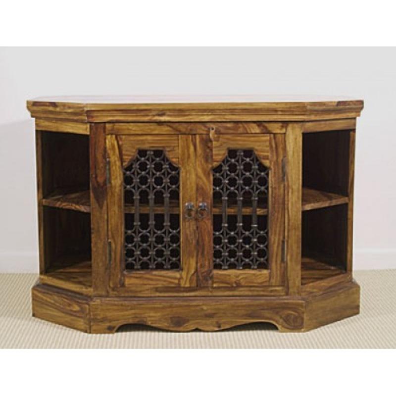 Jali Corner Tv Cabinet | La Casa Bella With Recent Jali Tv Cabinets (View 10 of 20)