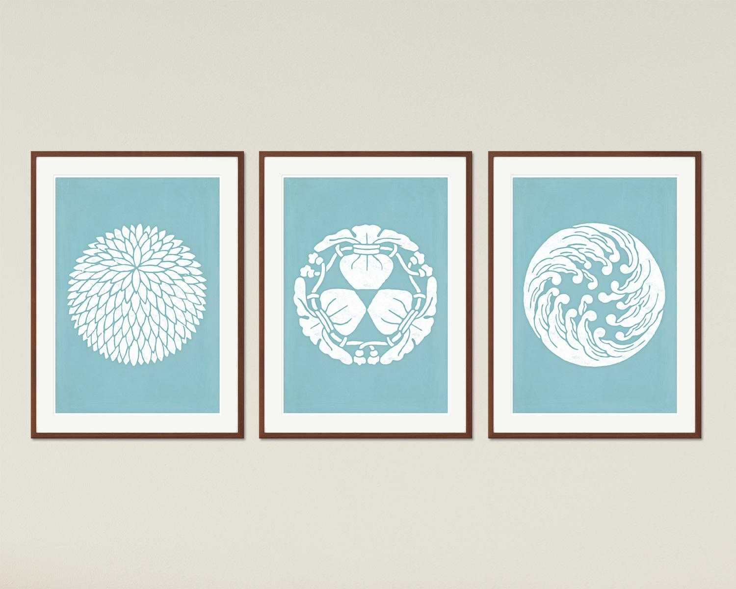 Japanese Designs – Minimalist Printable Poster Set, Asian Decor Throughout Asian Themed Wall Art (View 5 of 20)
