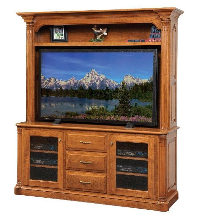 Jefferson Plasma Tv Stand With Optional Hutch Top From Dutchcrafters For Most Recent Plasma Tv Stands (Image 9 of 20)