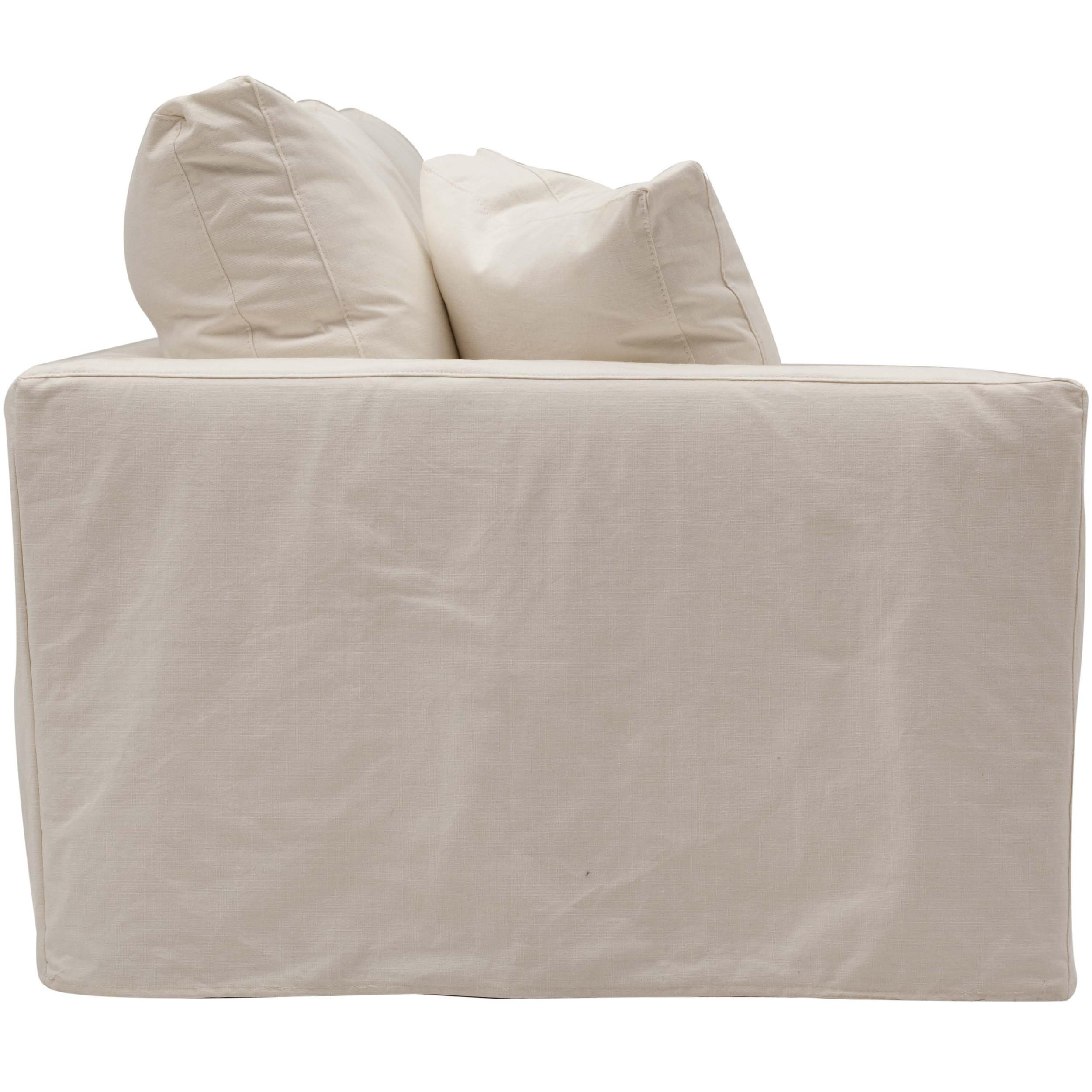 Jenna Slipcover Sectional, Dyno White – Fabric – Sofas – Furniture Intended For White Fabric Sofas (View 16 of 20)