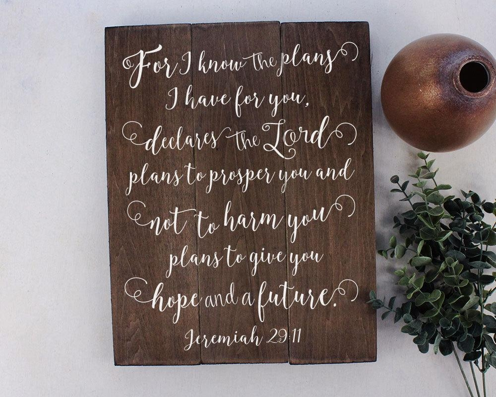 Jeremiah 29 11 Wall Art For I Know The Plans Jeremiah 29:11 pertaining to Jeremiah 29 11 Wall Art
