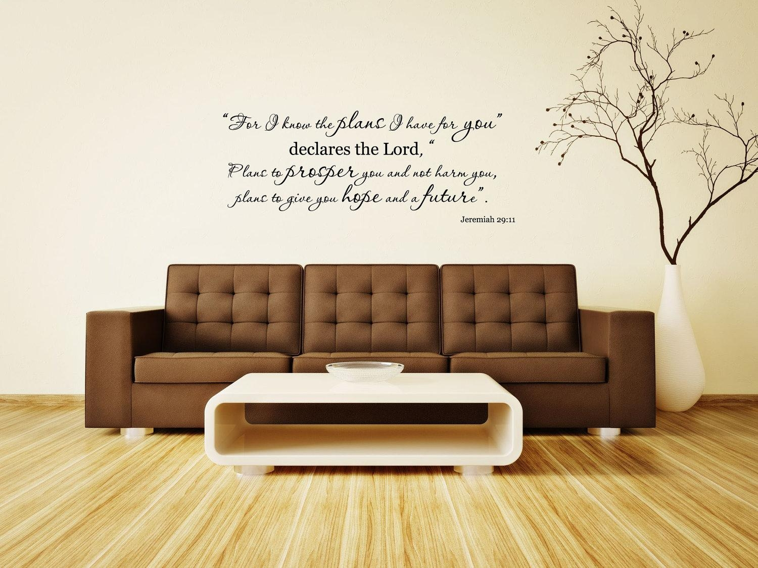 Jeremiah 29:11 Bible Verse Vinyl Wall Decalfor I Know The Intended For Jeremiah 29 11 Wall Art (View 4 of 20)