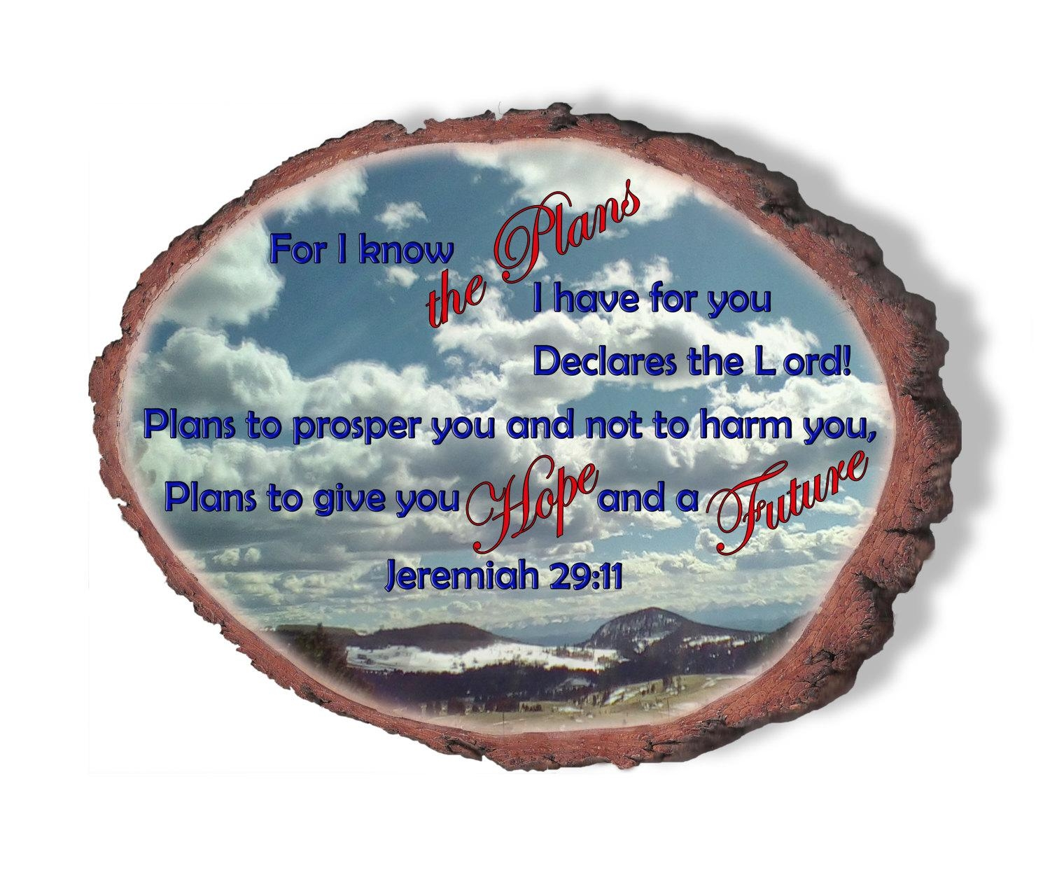 Jeremiah 29:11, Bible Verse Wall Art, Religious Wall Art, Wood With Regard To Jeremiah 29 11 Wall Art (View 18 of 20)