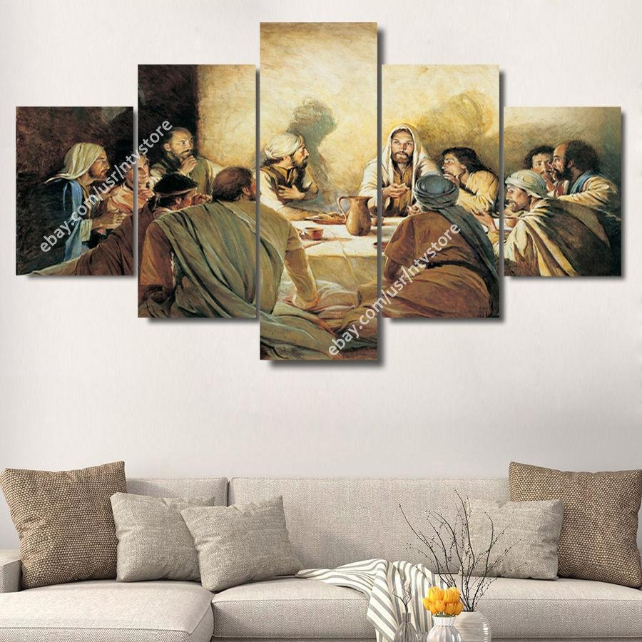 Jesus Christ & Apostles Painting Wall Art Canvas Print Christian For Christian Wall Art Canvas (Photo 14 of 20)