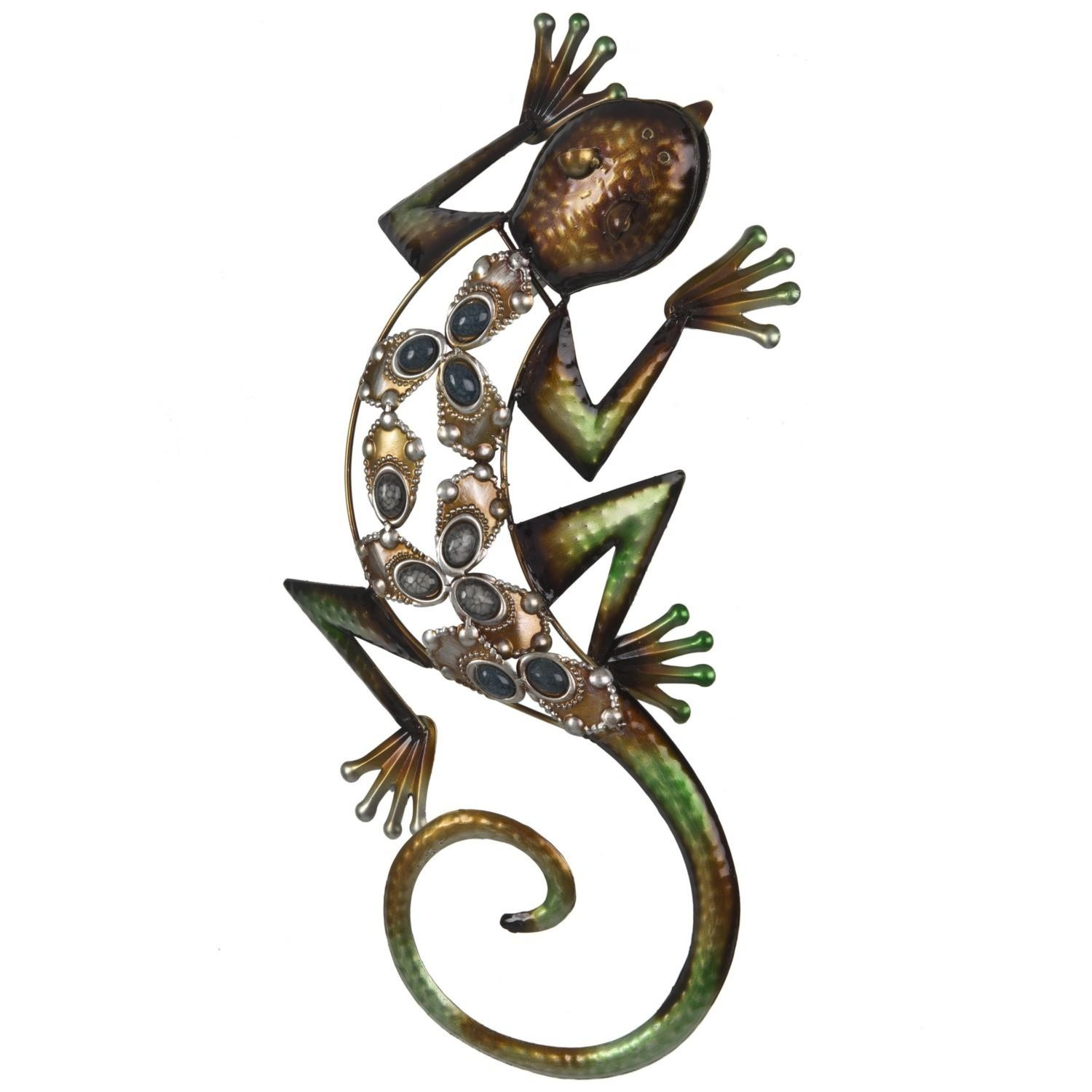 Jewelled Lizard Wall Art Pertaining To Gecko Outdoor Wall Art (View 7 of 20)