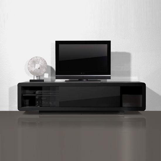 Jocky Black Gloss Tv Unit Plasma / Lcd Stand, Fully Assembled Throughout Most Recently Released Black Gloss Tv Bench (Image 5 of 20)