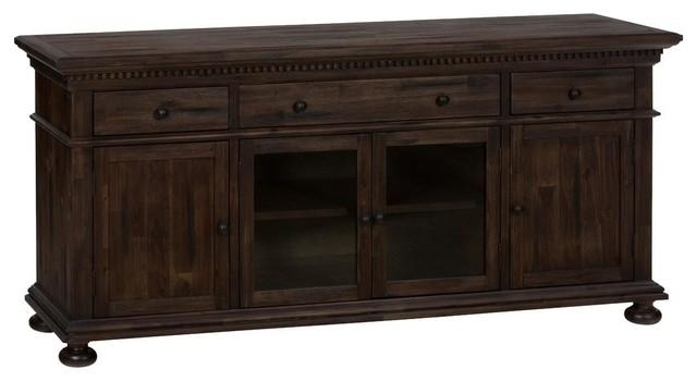 Jofran Media Unit With Bun Feet – Entertainment Centers And Tv With Regard To Most Current 80 Inch Tv Stands (Image 7 of 20)