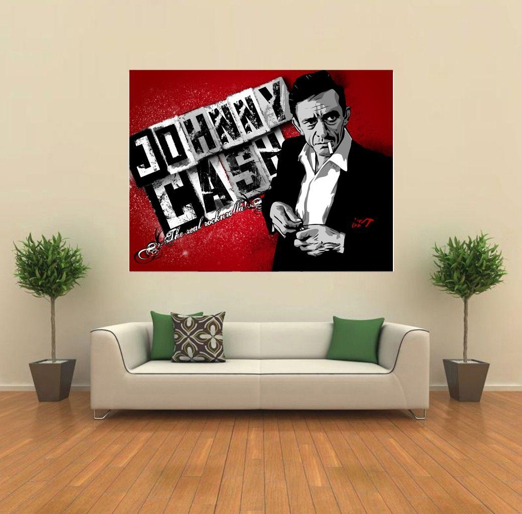 Johnny Cash The Real Rocknrolla Fanart Giant Wall Print Poster Intended For Johnny Cash Wall Art (View 2 of 20)