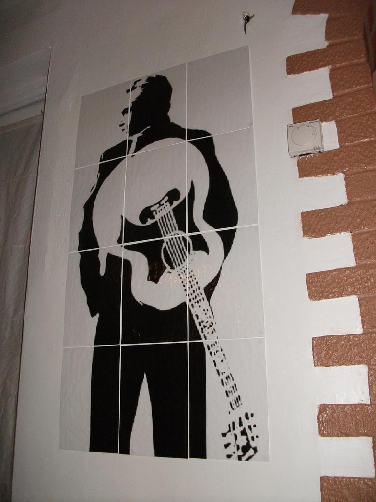 Johnny Cash Wall Art | Made Using Rasterbator | Biged2009 | Flickr Within Johnny Cash Wall Art (View 5 of 20)