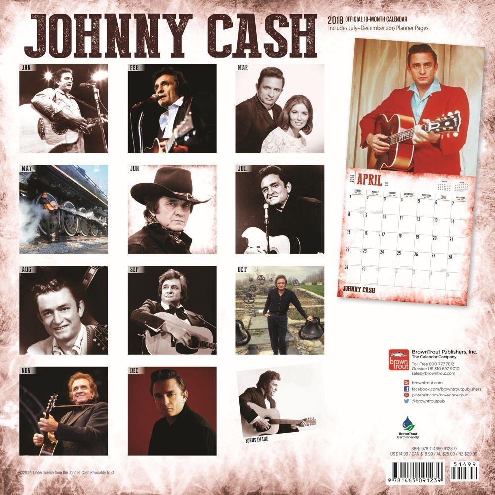 Johnny Cashwall Calendar: 9781465091239 | | Calendars Pertaining To Johnny Cash Wall Art (View 15 of 20)