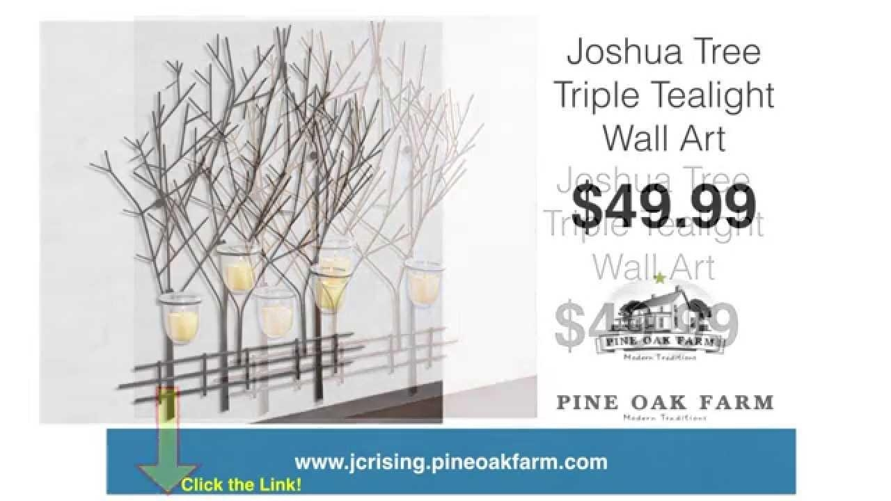 Joshua Tree Triple Tealight Wall Art | Metal Wall Art | Votive Inside Metal Wall Art With Candles (Image 4 of 20)