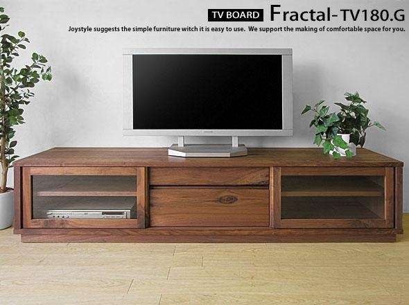 Joystyle Interior | Rakuten Global Market: An Amount Of Money Intended For Latest Wooden Tv Stands With Glass Doors (Image 12 of 20)