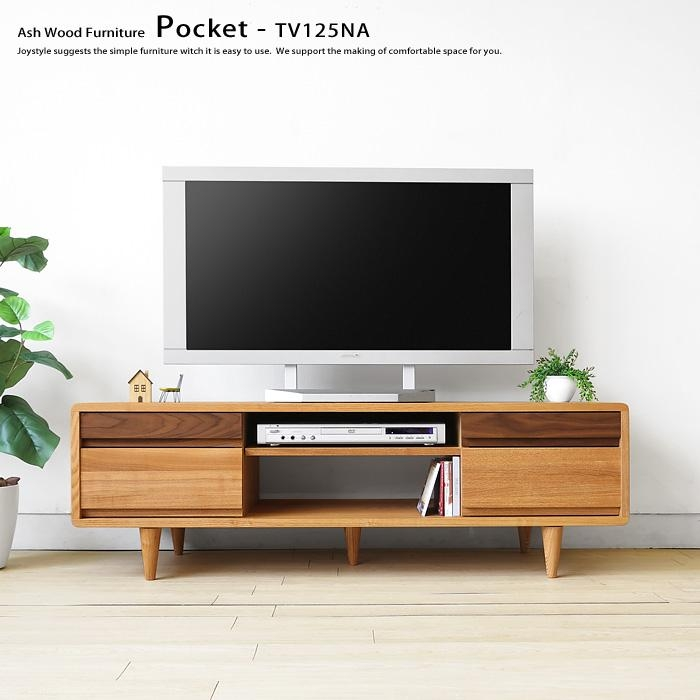 Joystyle Interior | Rakuten Global Market: Width 125 Cm Two Tone Within Best And Newest Tv Stands With Rounded Corners (Image 7 of 20)