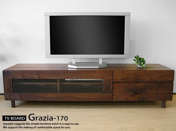 Joystyle Interior | Rakuten Global Market: Width 170 Cm Walnut Inside Most Recent Wooden Tv Cabinets With Glass Doors (View 18 of 20)