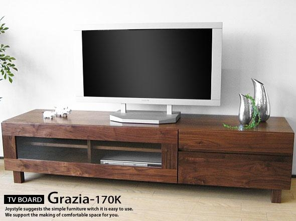 Joystyle-Interior | Rakuten Global Market: Width 170 Cm Walnut inside Most Up-to-Date Walnut Tv Cabinets With Doors