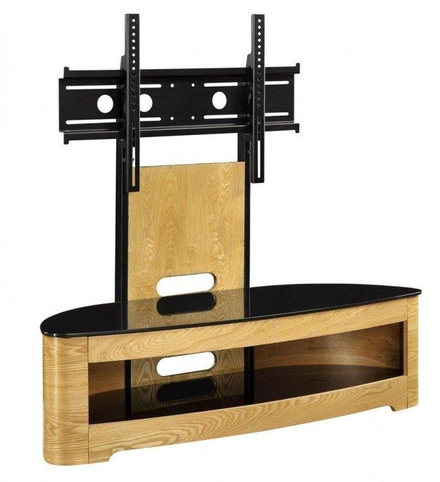 Jual Curve Jf209 Oak Cantilever Tv Stand In Most Up To Date Cantilever Tv (Image 8 of 20)