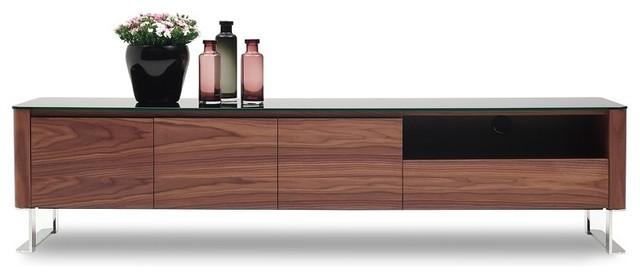 Julian Modern Tv Base – Entertainment Centers And Tv Stands – Intended For Recent Modern Walnut Tv Stands (Image 7 of 20)