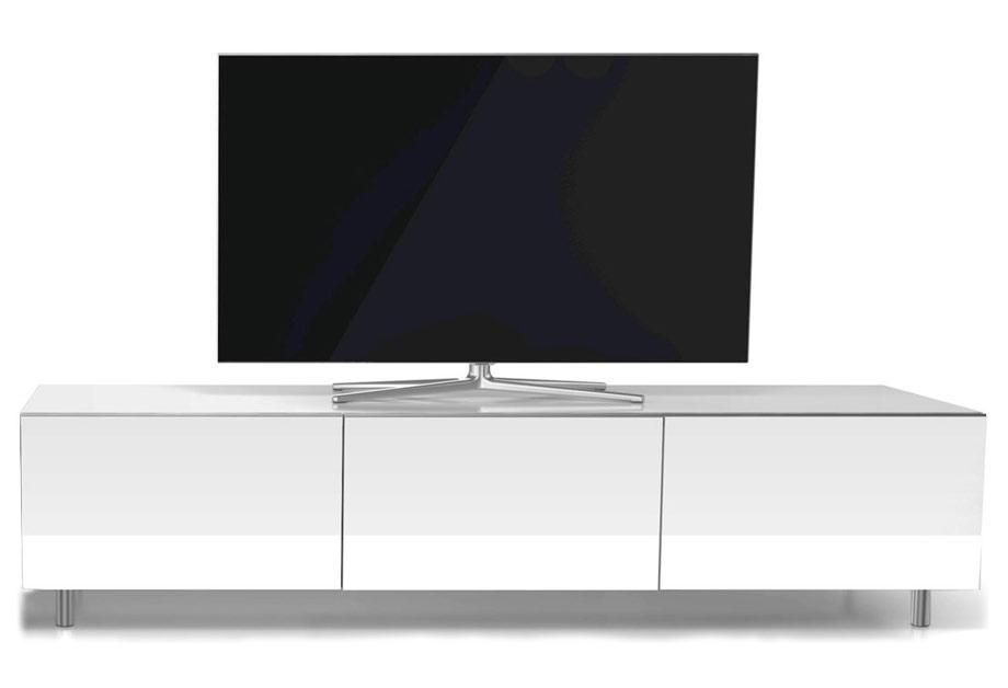 Just-Racks Jrl1650 Gloss White Tv Cabinet - White Tv Stands in Current White Gloss Tv Cabinets