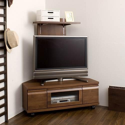 Kagumaru | Rakuten Global Market: Tv Stand Corner Type Completed For Most Up To Date Dark Brown Corner Tv Stands (View 7 of 20)