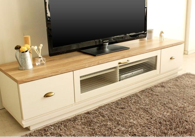 Kagumaru | Rakuten Global Market: Tv Stand Wood Tv Stand Wooden Intended For 2018 French Country Tv Stands (View 7 of 20)