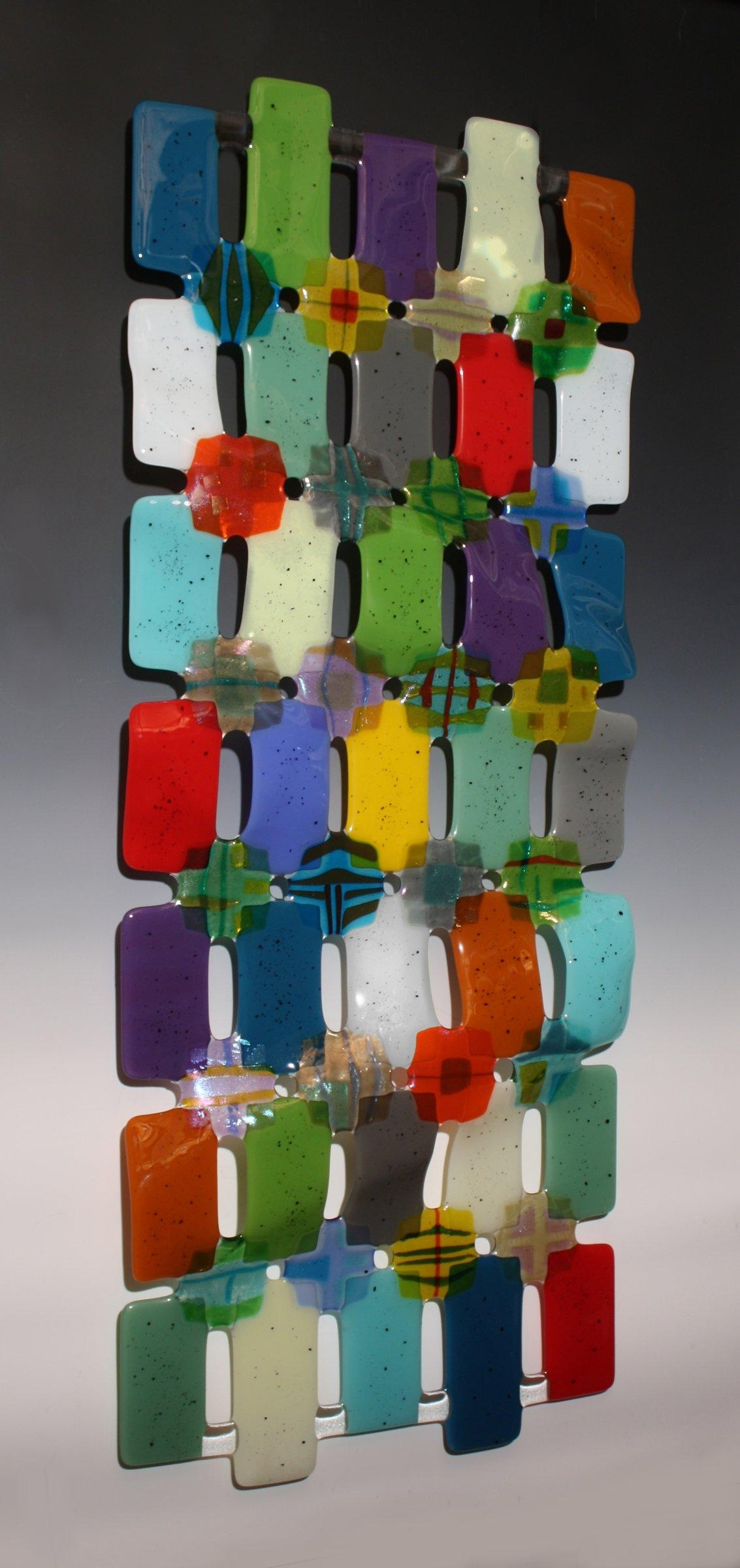 Kaleidoscopenina Cambron (Art Glass Wall Sculpture) | Artful Home With Regard To Fused Glass Wall Art For Sale (View 8 of 20)