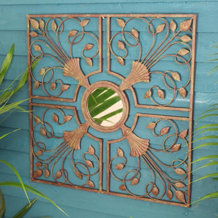 Kasbah Metal Mirror Wall Artgarden Selections With Outdoor Mirror Wall Art (Image 4 of 20)