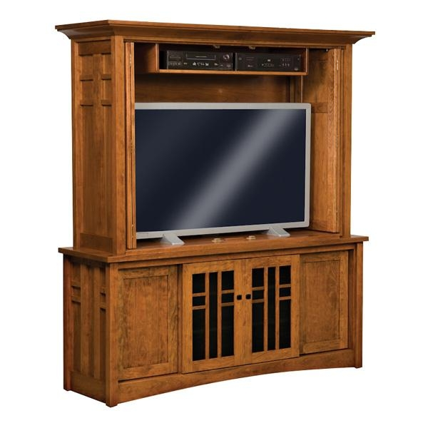 Kascade Enclosed Tv Cabinet | Amish Furniture, Amish Furniture Throughout Newest Enclosed Tv Cabinets With Doors (Image 13 of 20)