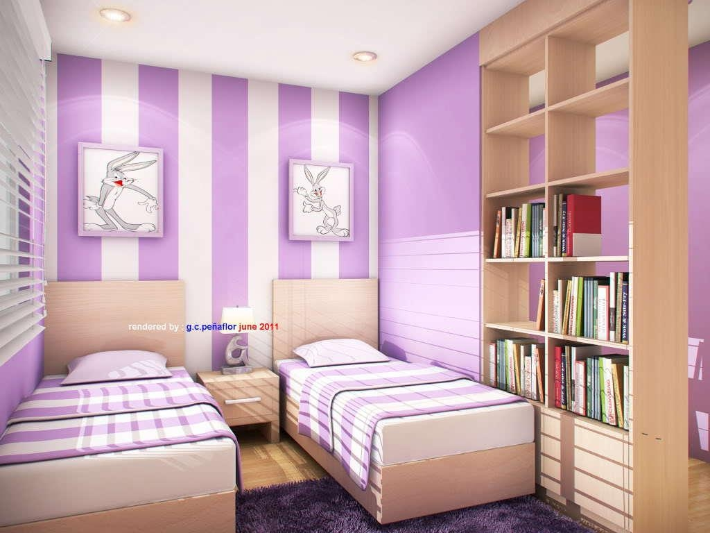Kids Bedroom : Striking White And Purple Home Office And Kids Pertaining To Purple Wall Art For Bedroom (Image 12 of 20)