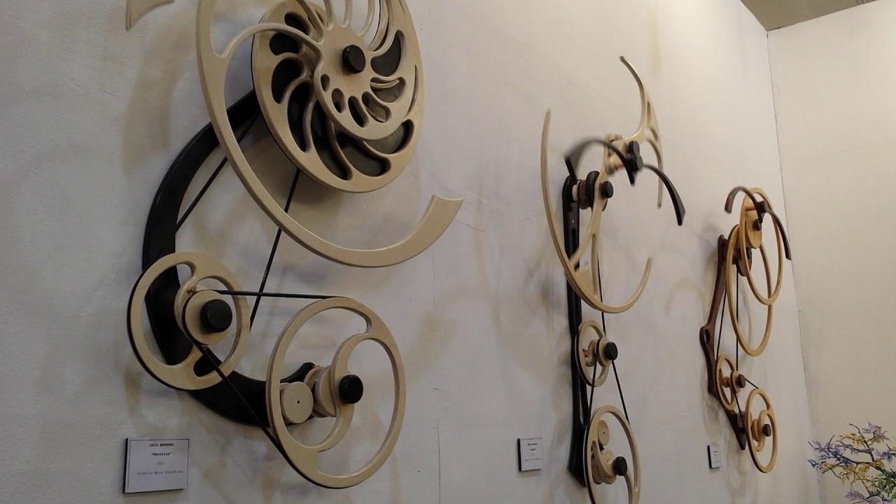 Kinetic Wood Sculpture, Moving Art – Youtube With Regard To Kinetic Wall Art (Image 9 of 20)