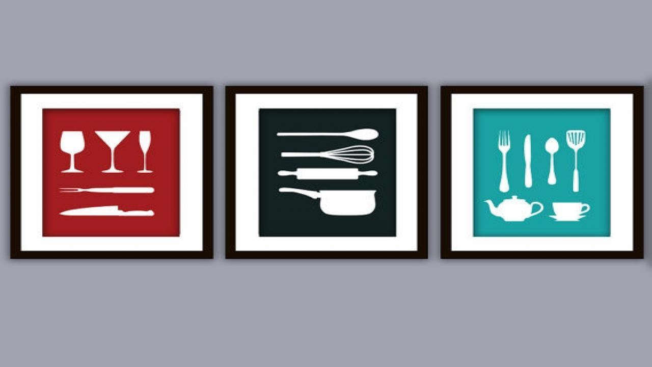 Kitchen Art Prints, Utensil Wall Art Kitchen Utensil Art Prints For Utensil Wall Art (Image 10 of 21)
