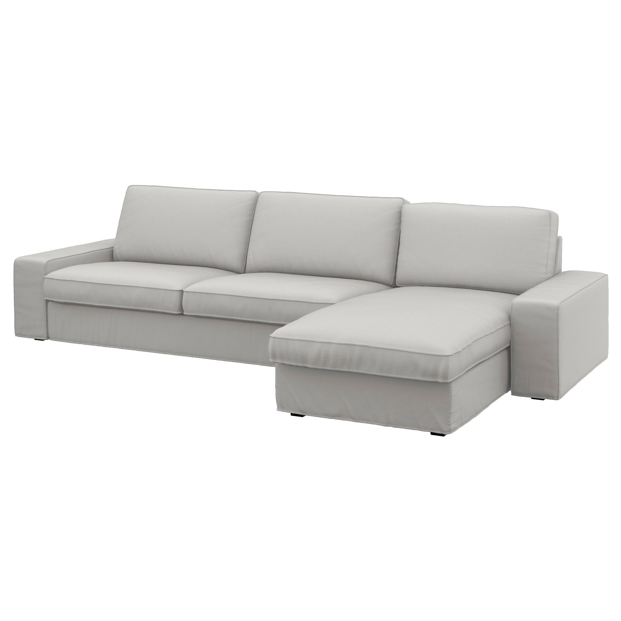 Kivik 4 Seat Sofa With Chaise Longue/ramna Light Grey – Ikea Within Ikea Chaise Lounge Sofa (Image 13 of 20)