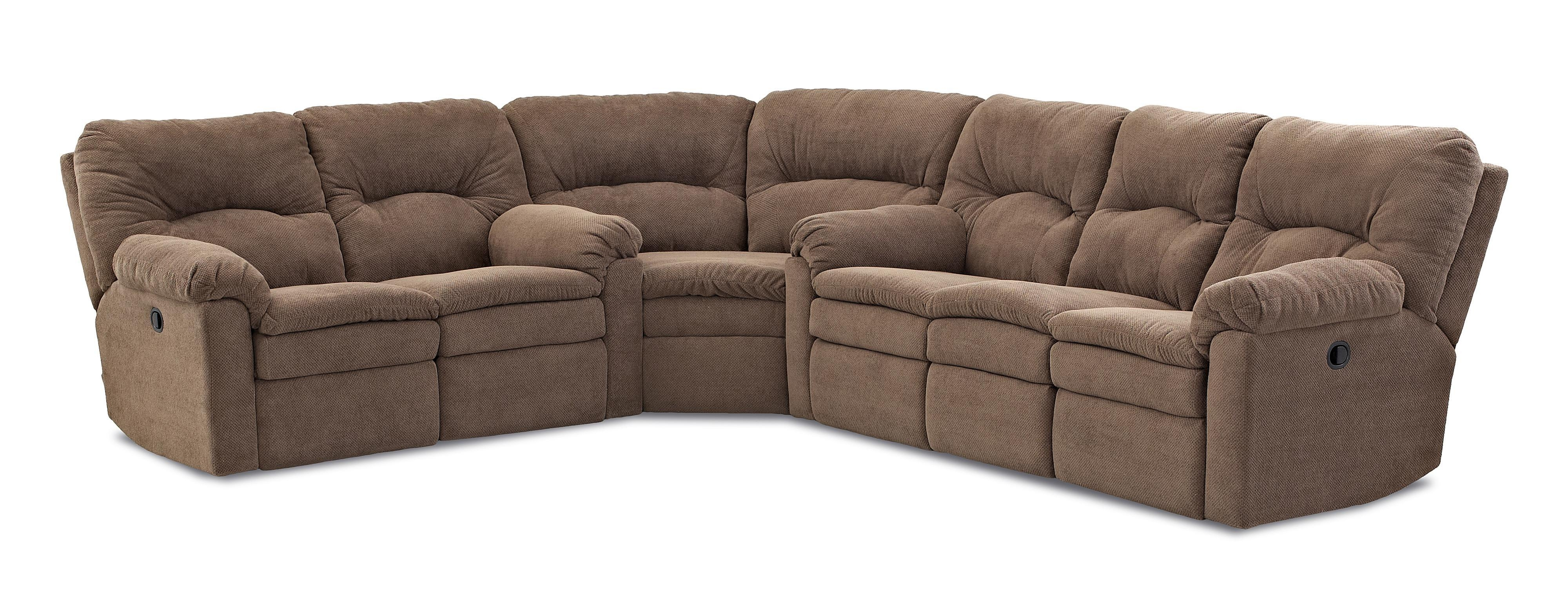 Klaussner Bennington Casual 3 Piece Power Reclining Sectional Sofa With Regard To Recliner Sectional Sofas (View 10 of 22)