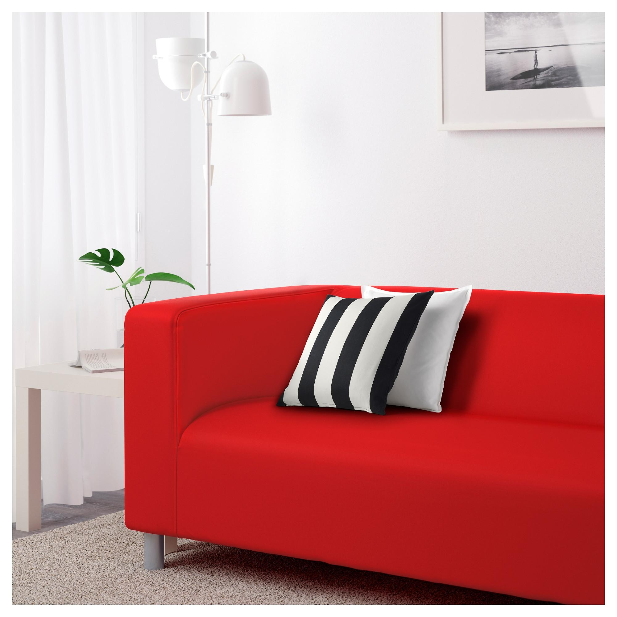 Klippan Two Seat Sofa Flackarp Red Orange – Ikea Pertaining To Orange Ikea Sofas (Image 12 of 20)