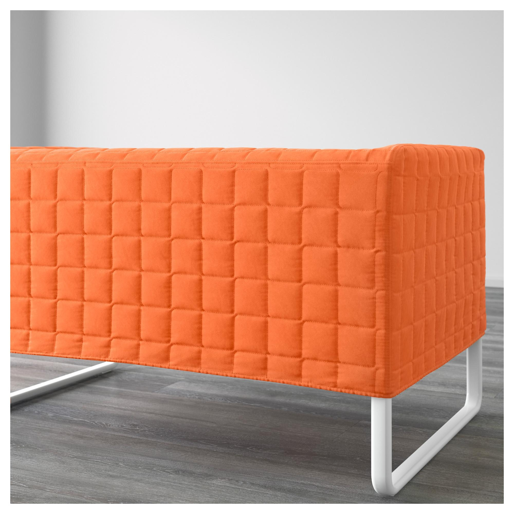 Knopparp 2 Seat Sofa Orange – Ikea For Orange Ikea Sofas (Image 14 of 20)