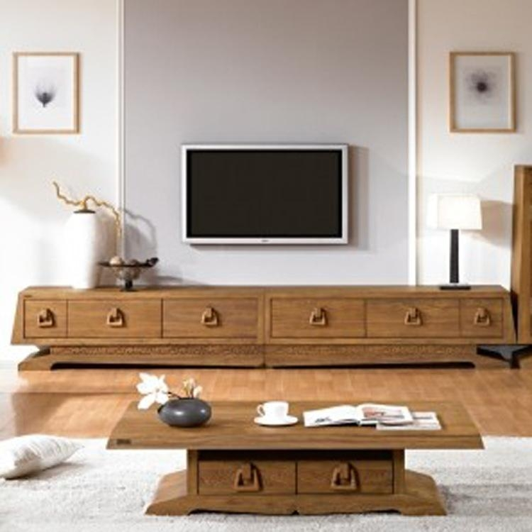 Korean Exports Of Authentic Old Elm Long Tv Cabinet Solid Wood In Most Up To Date Long Tv Cabinets Furniture (View 12 of 20)