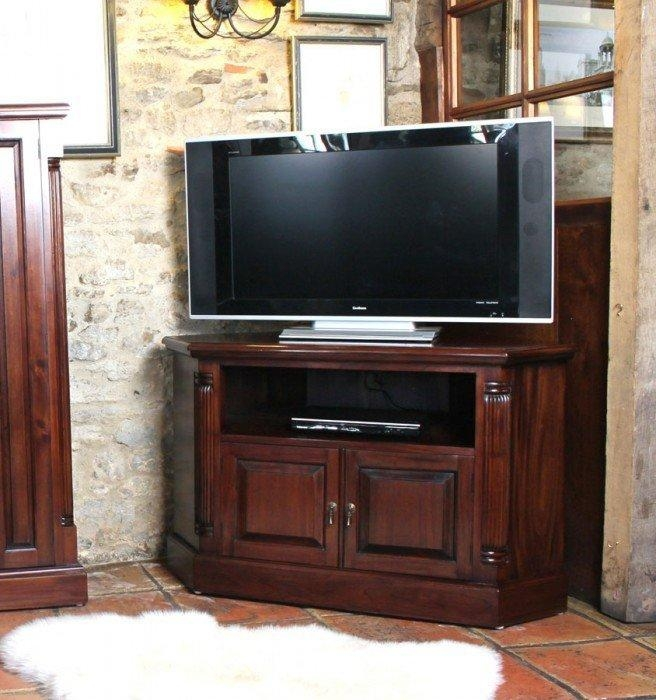 La Roque Corner Mahogany Tv Cabinet (Imr09B) Intended For Best And Newest Mahogany Tv Cabinets (View 18 of 20)