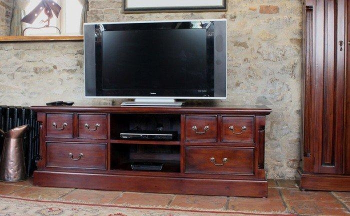 La Roque Mahogany Tv Cabinet (Imr09A) In Newest Mahogany Tv Stands (Image 14 of 20)
