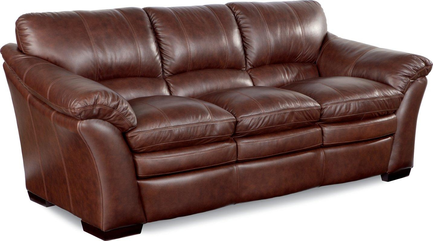 La Z Boy Burton Leather Sofa & Reviews | Wayfair Intended For Leather Sofas (Image 11 of 21)